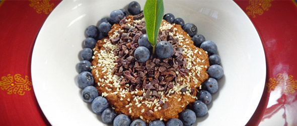 Raw Coconut Chocolate Chia Porridge
